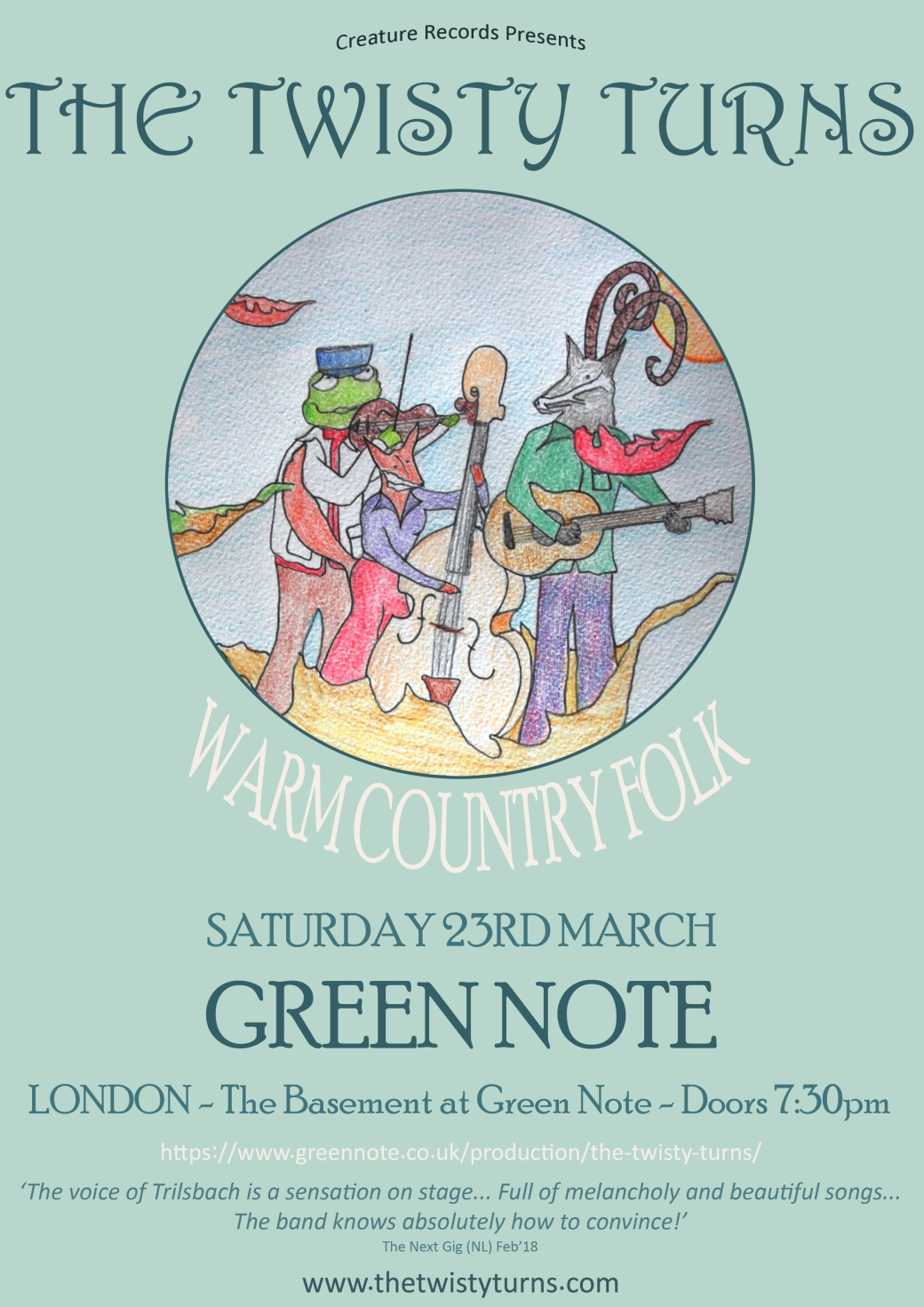 23rd march 2019 green note